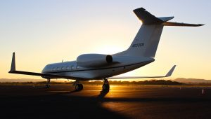 Sky high social distancing wedding adventure on a private jet