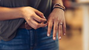 Should you sleep with your engagement ring on?