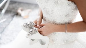 Bring on the bling with a glitzy wedding dress