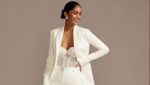 Suit up: Stunning menswear-inspired bridal suits