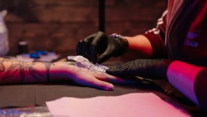 Say 'I do' with a sweet wedding ring tattoo